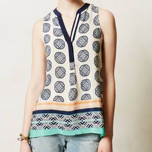Anthropologie Finn Silk Tank Top Vanessa Virginia
